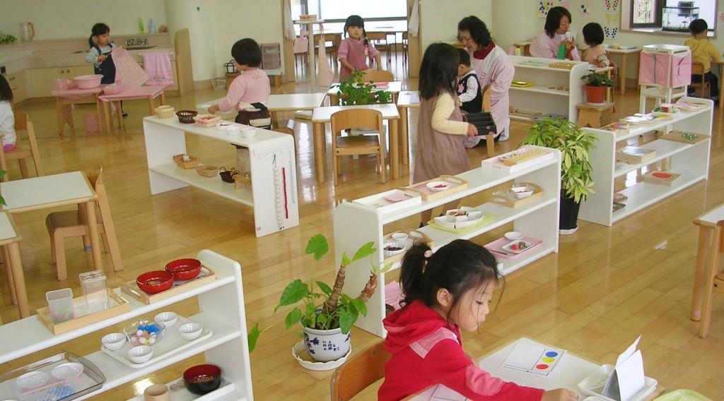 Mô hỉnh lớp học Montessori