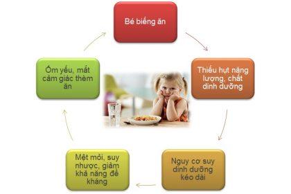 Vòng tròn bệnh lý trẻ biếng ăn