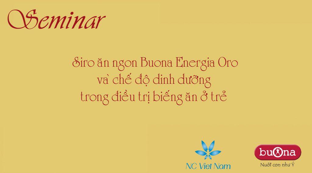 Siro ăn ngon buona energia oro và chế độ dinh dưỡng trong điều trị trẻ biếng ăn