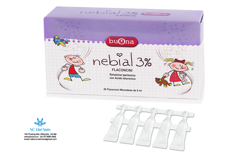 Nhỏ mũi Nebial 3% Flaconcini